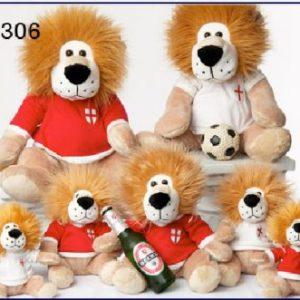 6″ PLUSH ENGLAND LION 2 ASSTD
