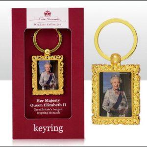 John Swannell Queen Metal Keyring