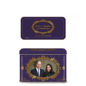 Duke & Duchess of Cambridge 40 Teabag Tin