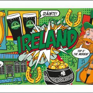 Ireland Pop Art Tea Towel