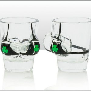 Irish Stout Boobies Shot Glass