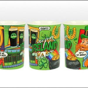 Ireland Pop Art Lippy Mug