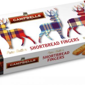 150g Tartan Stags Carton (Shortbread Fingers)