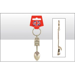 Bus Spoon Bottle Opener Keyring