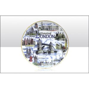 HISTORICAL LONDON COLLAGE PLATE 20CM