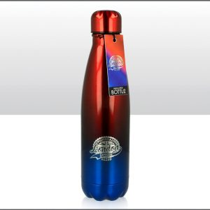 500ml Metal Drinks Bottle London Red & Blue
