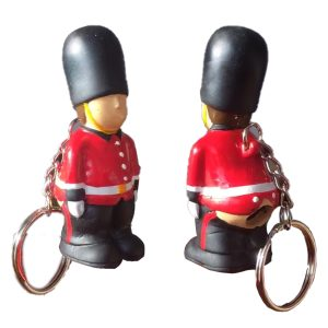 Pooping London Guardsman Keyring