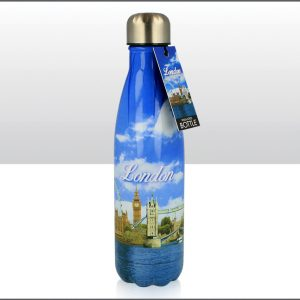 500ml Metal Drinks Bottle London Photo Montage