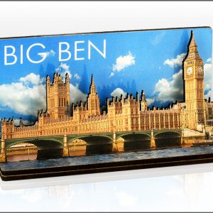 Big Ben & Bridge Photo Wood Layered Magnet