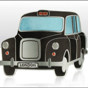 Black London Taxi Foil Stamped Magnet